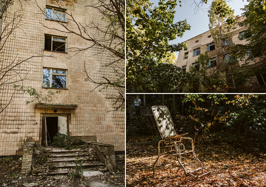 pripyat hospital from the outside