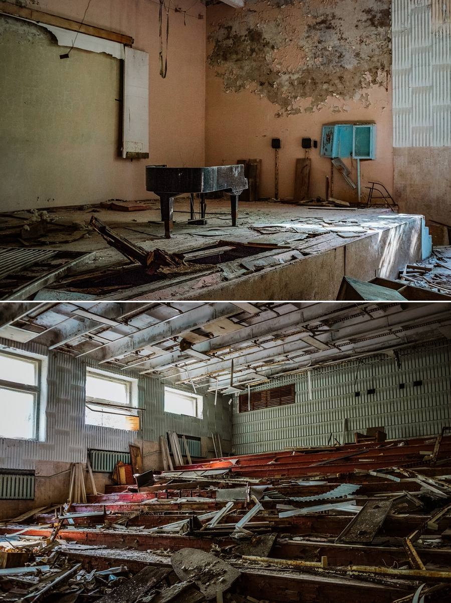 stage of music school with grand piano
