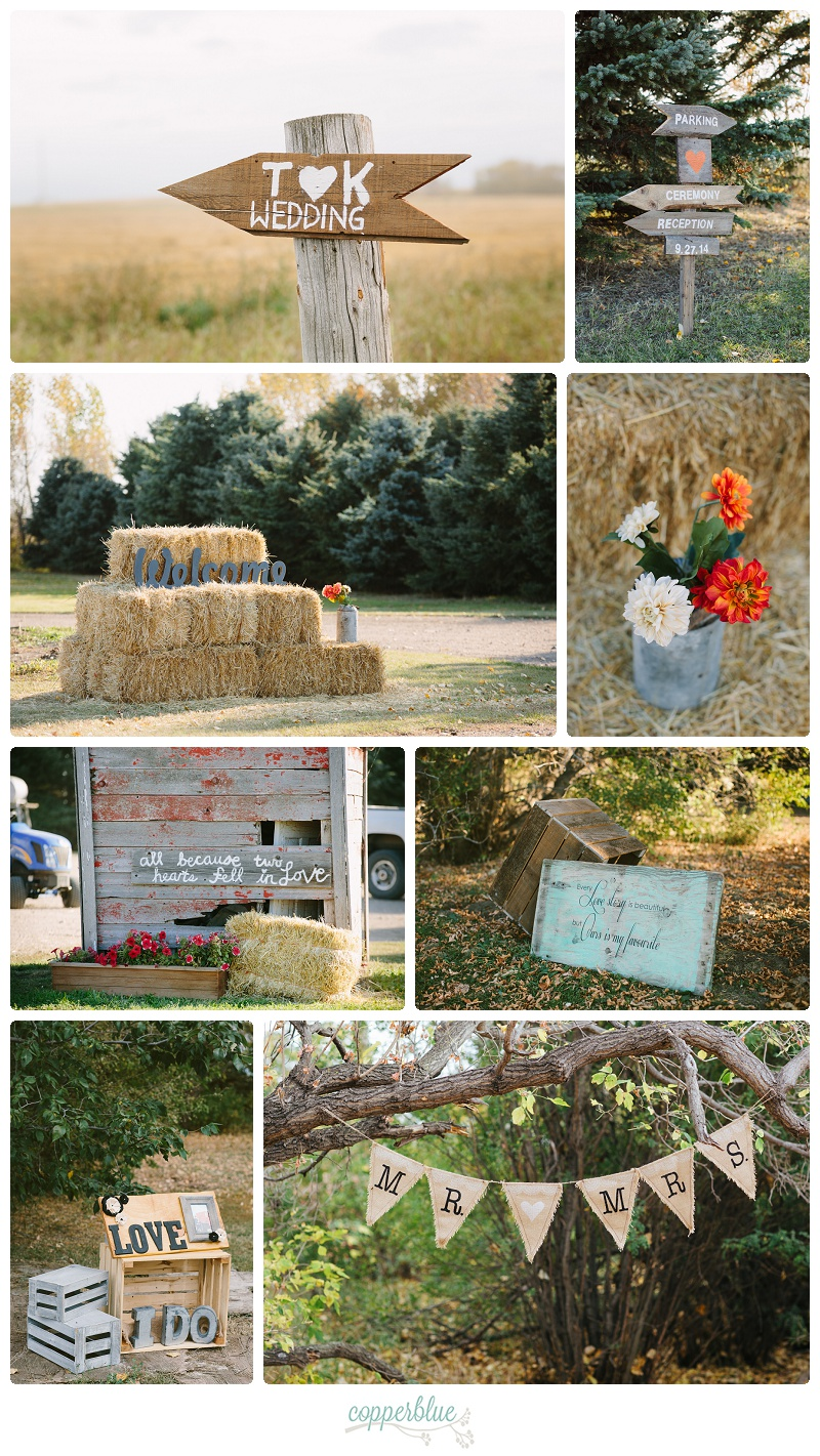 Rustic burlap wedding decor