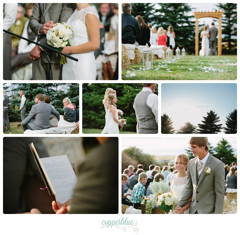 Rustic farmyard wedding