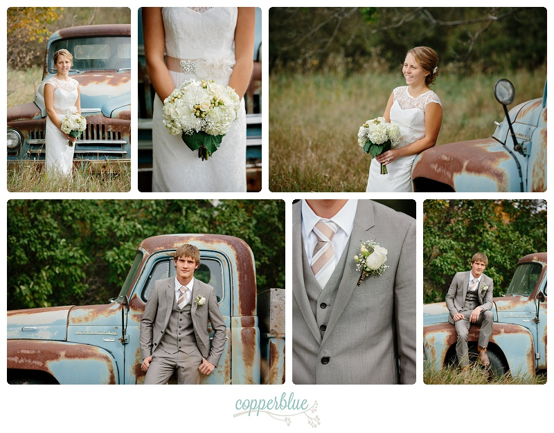 Rustic wedding Outlook Saskatchewan