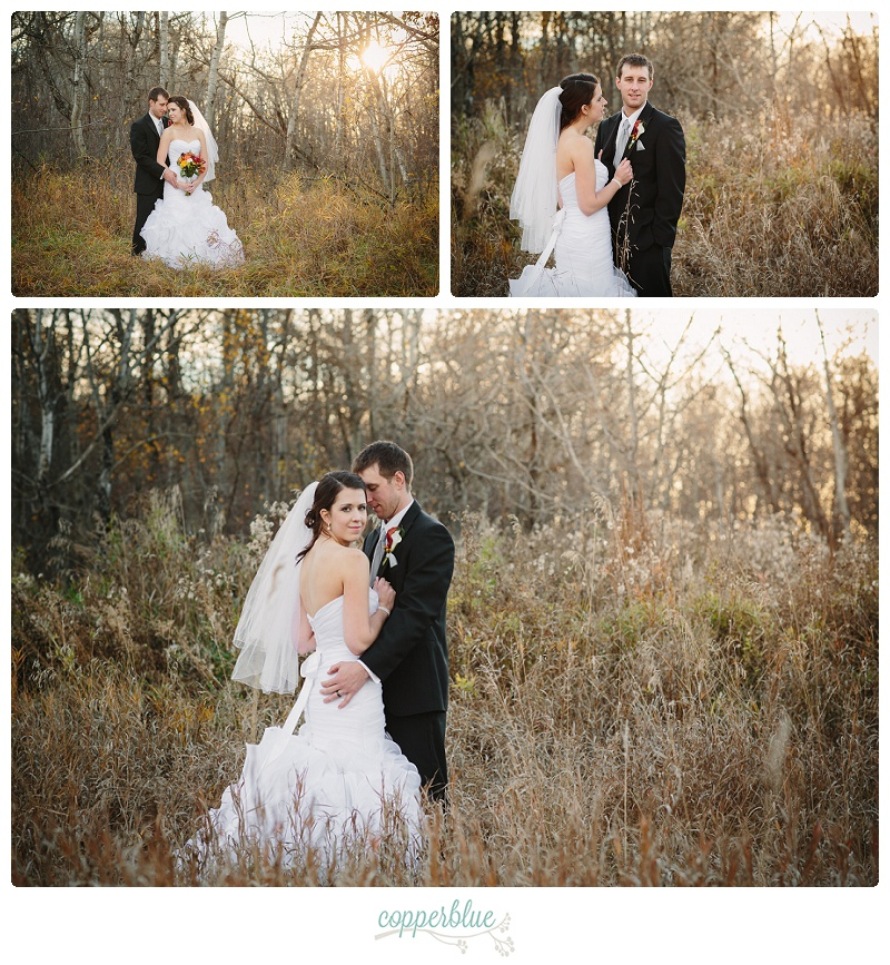 Rural autumn wedding