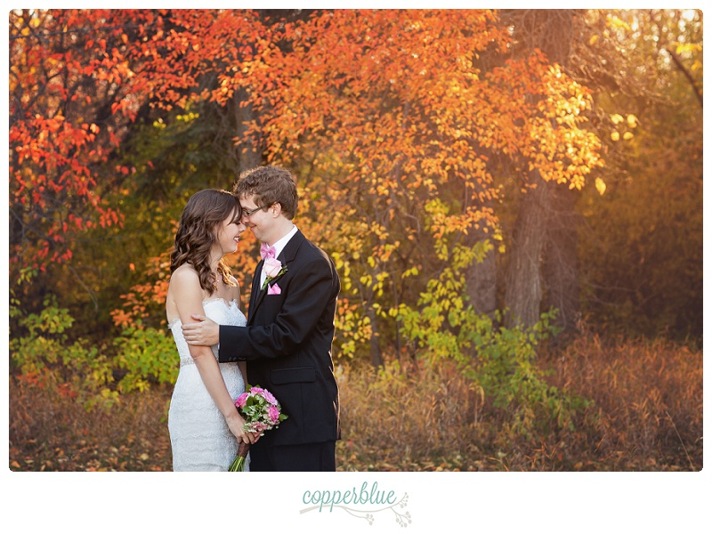 Saskatoon autumn leaves wedding