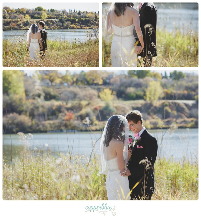 Saskatoon wedding first look