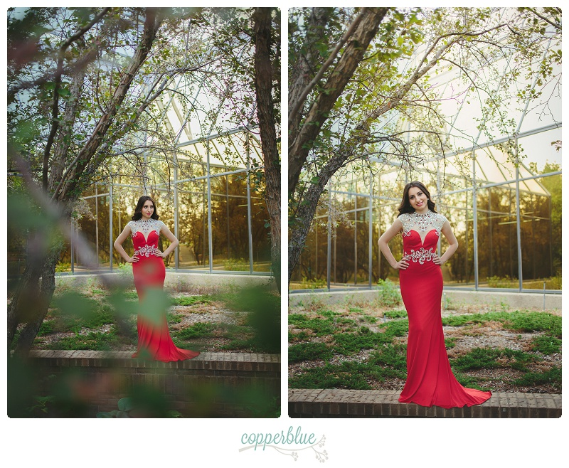 Red grad dress by Alyce Paris