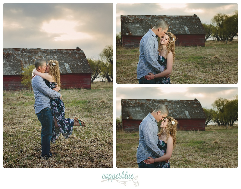 Engagement photography barn Saskatoon