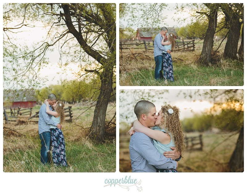 Rustic farm engagement photos