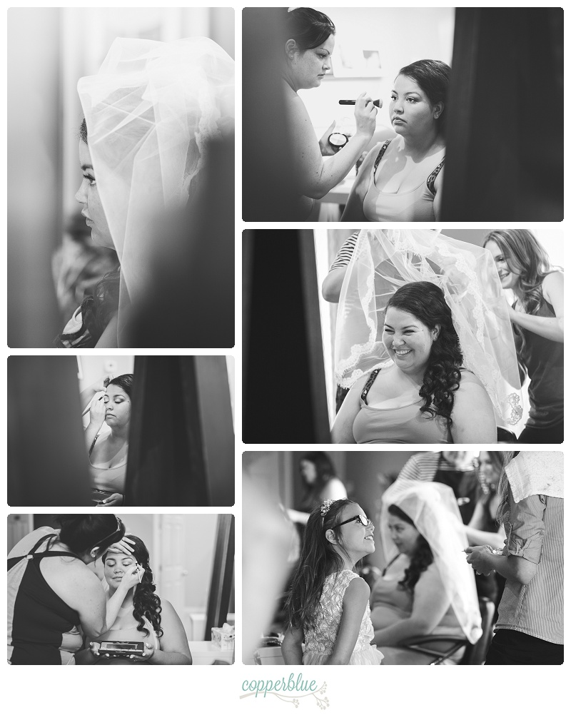 Prince Albert wedding bride preparation photos