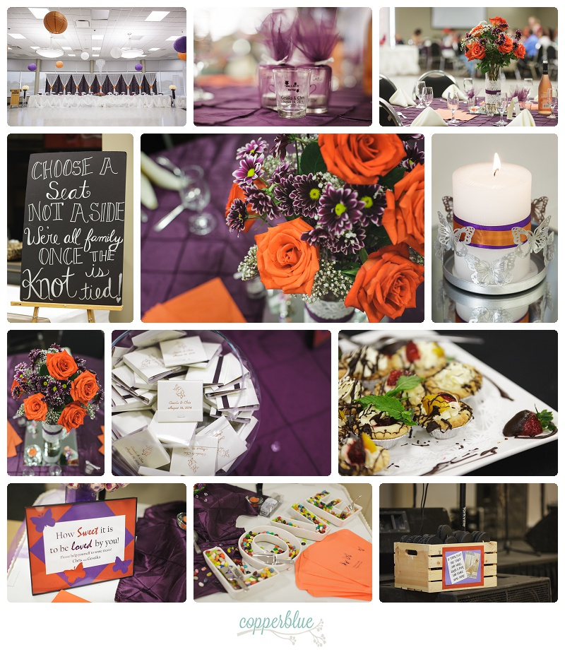 Orange and purple wedding