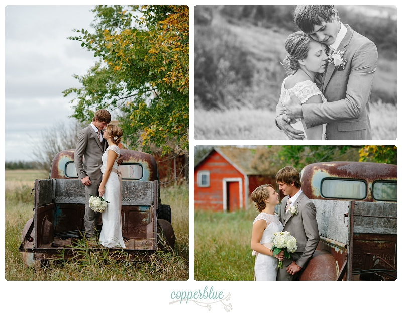 Farm wedding Outlook Saskatchewan