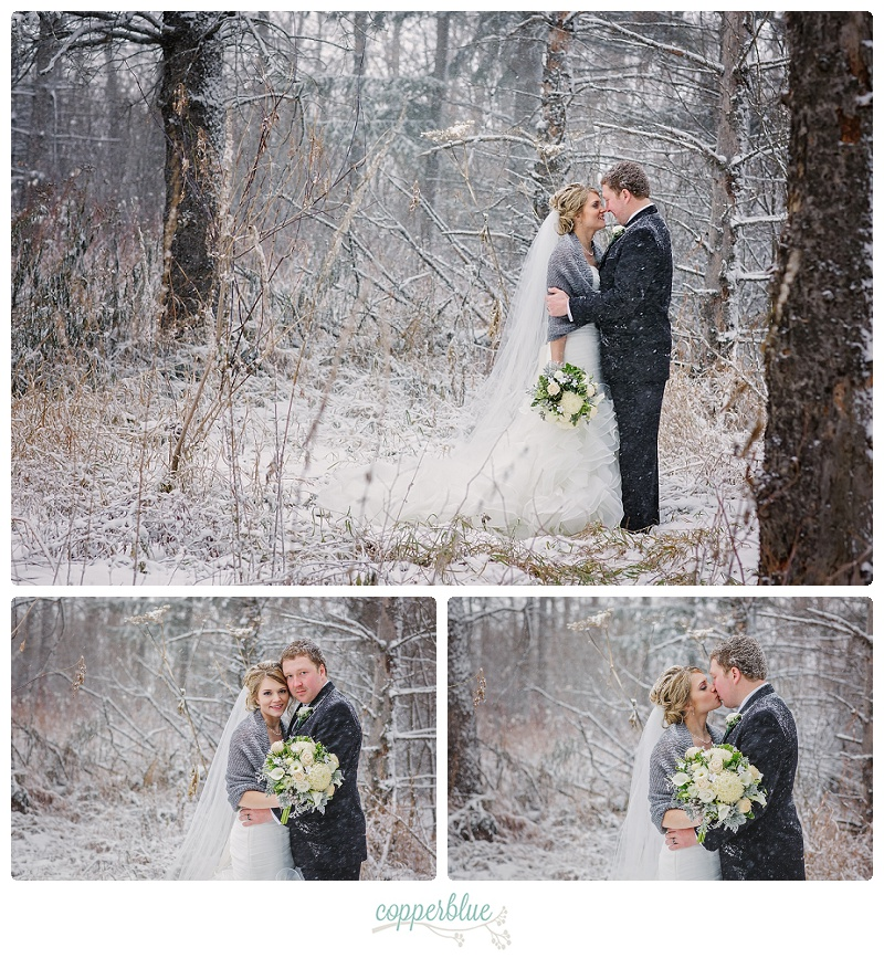Snowy Saskatchewan winter wedding