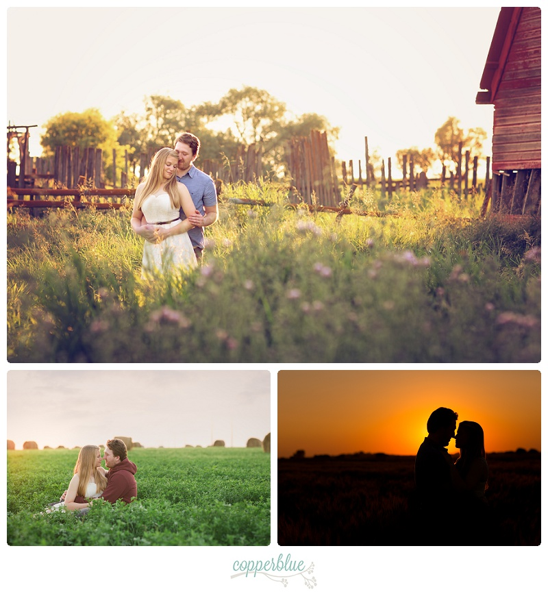 Engagement session barn