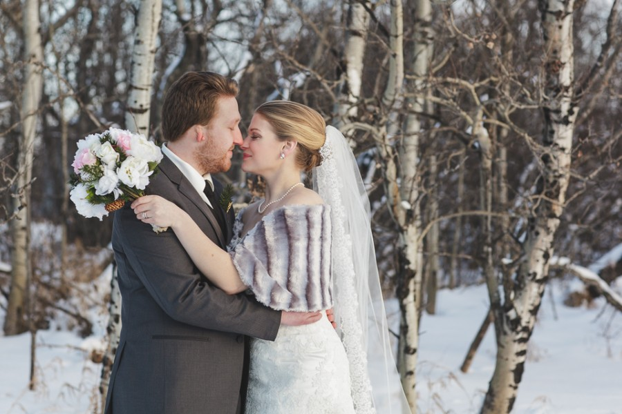 Winter farm wedding