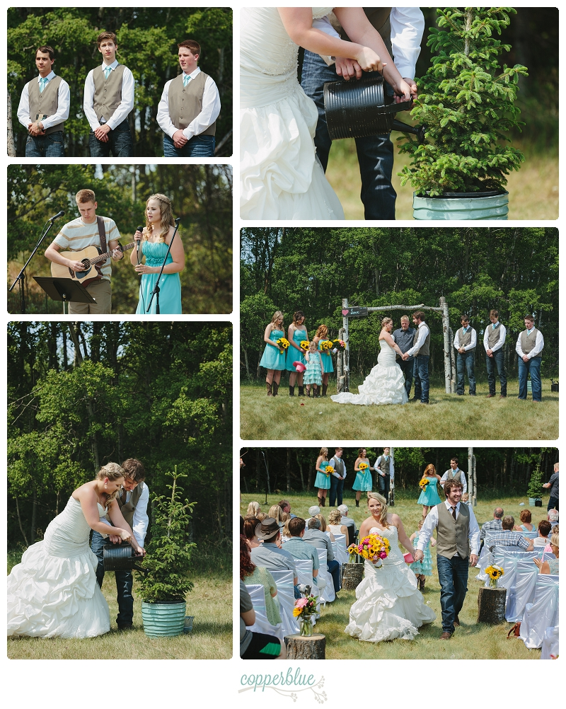 Saskatoon backyard wedding