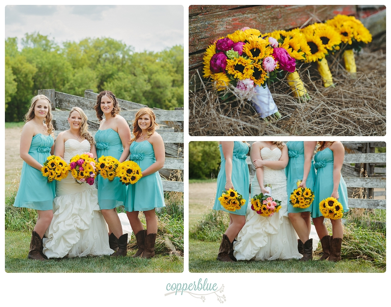 Saskatoon farm wedding bridesmaids