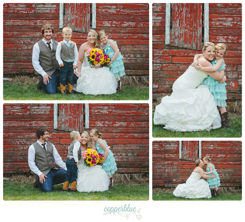 Saskatoon farm wedding flower girl