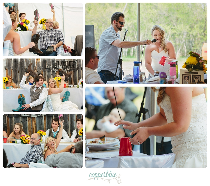Brunch wedding tent reception