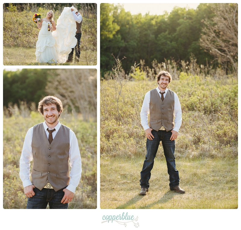 Rustic wedding groom jeans cowboy boots