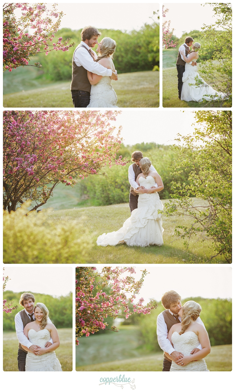Rustic wedding cherry blossoms
