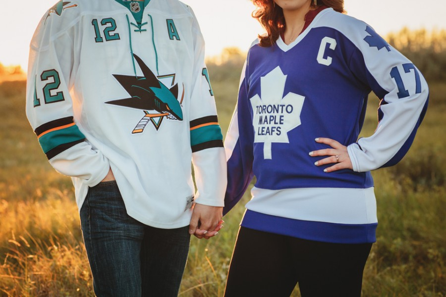 Hockey engagement session