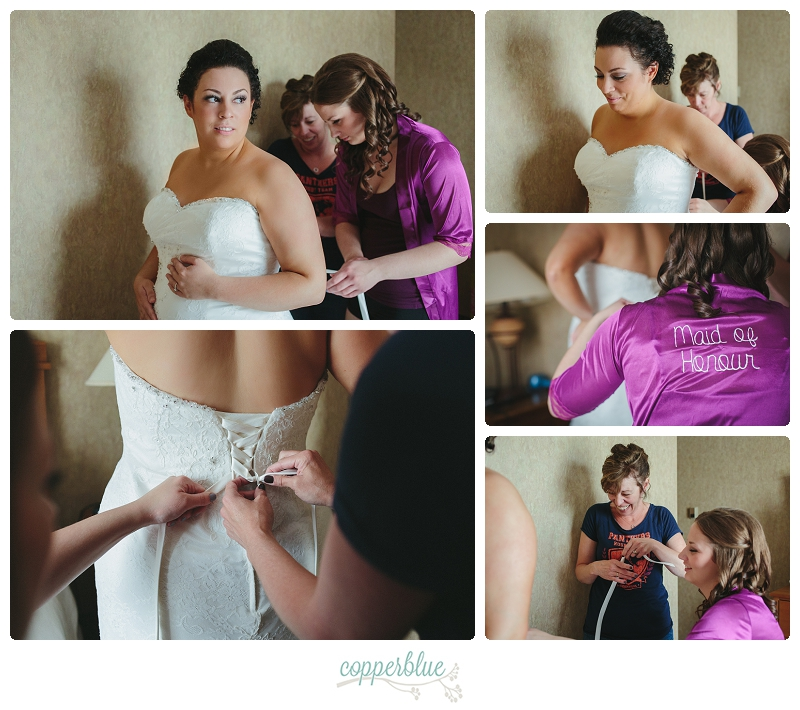 Saskatoon bride getting ready