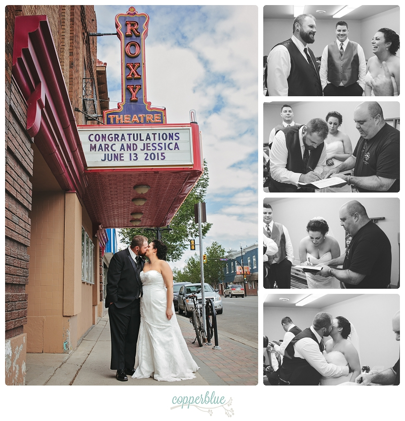Roxy Theatre wedding