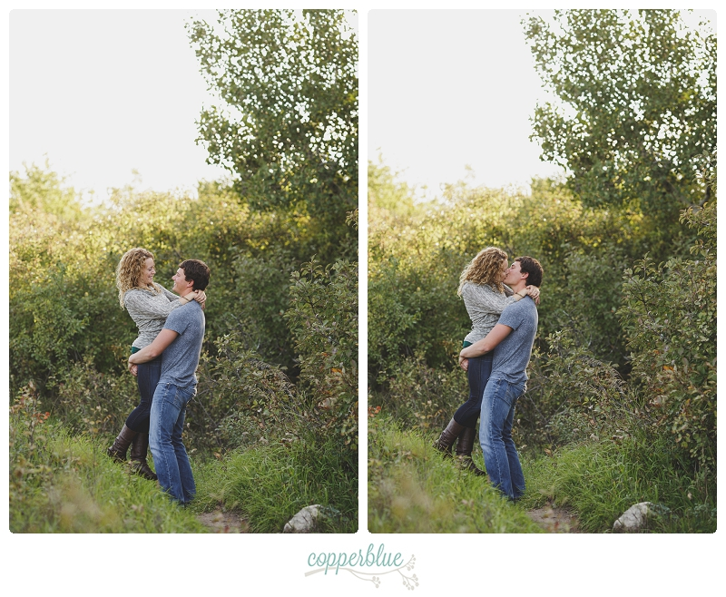 Fall engagement photos in Saskatoon