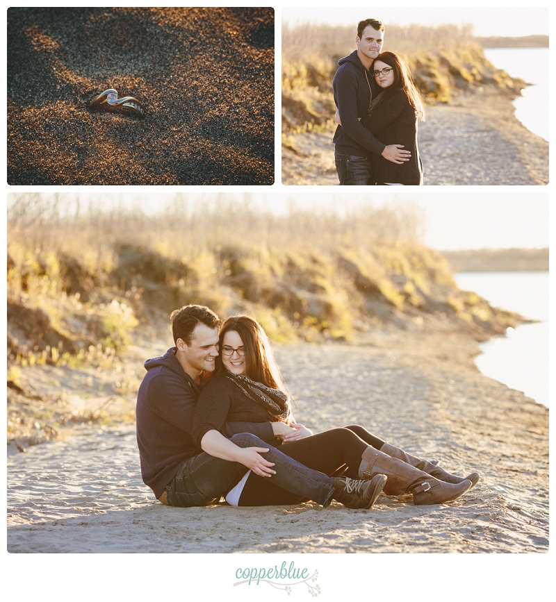 Beach engagement Saskatoon