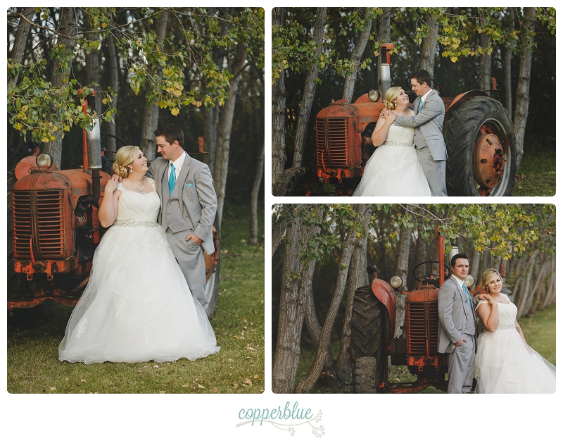 Wedding with tractor
