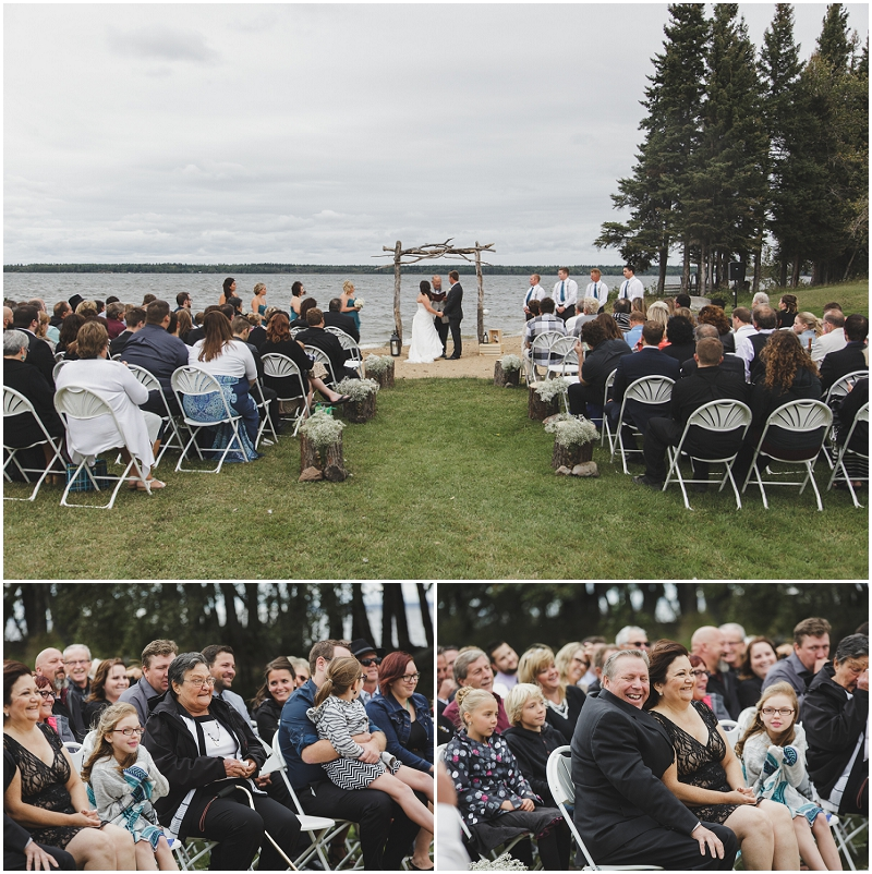 candle lake wedding on the beach
