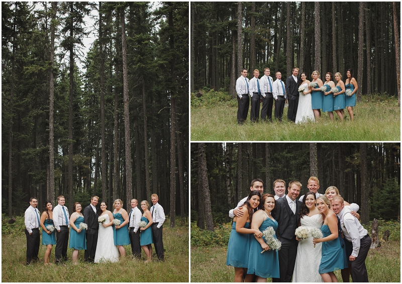 forest wedding party