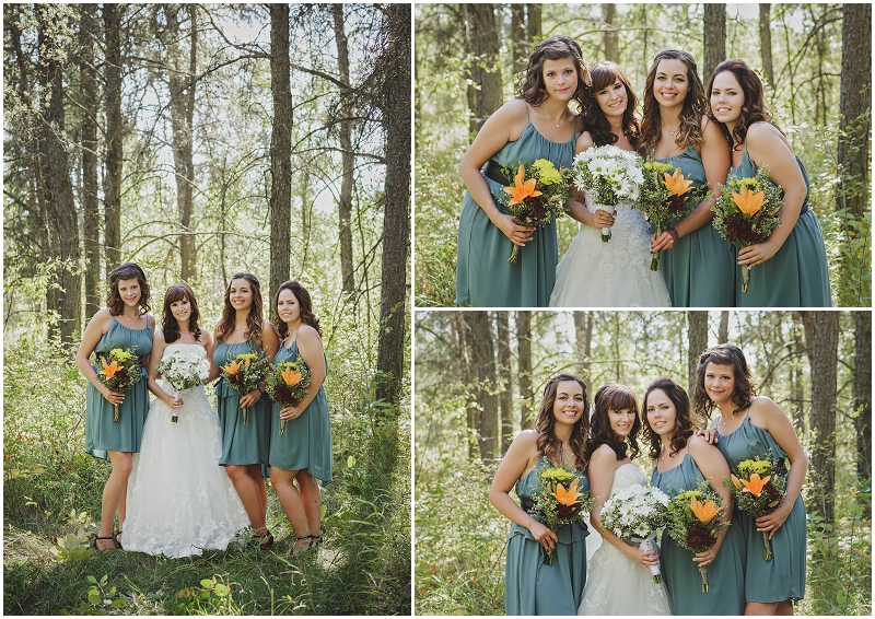 bridesmaids teal dresses