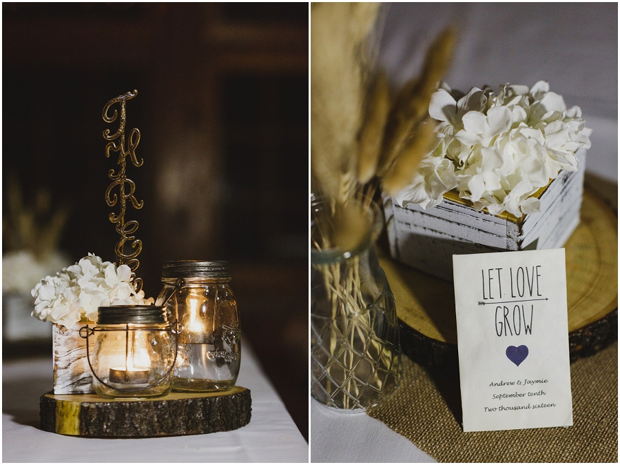 rustic lake wedding reception