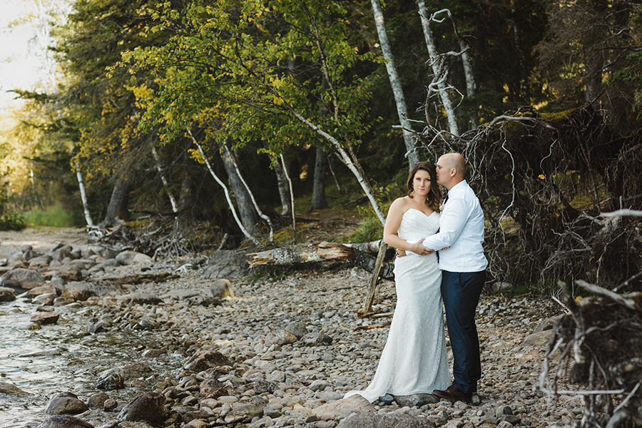 wedding in waskesiu saskatchewan