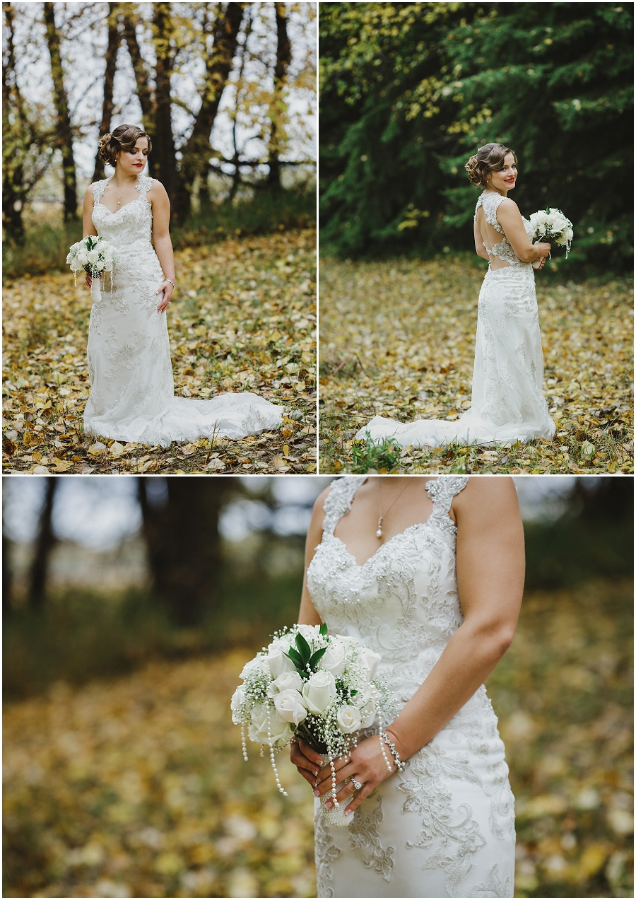 saskatchewan bride autumn wedding