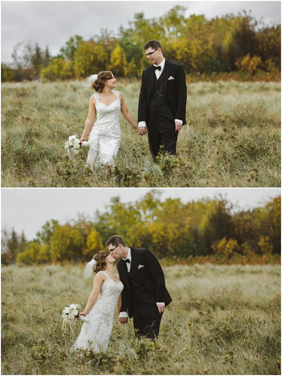 bride and groom in saskatchewan