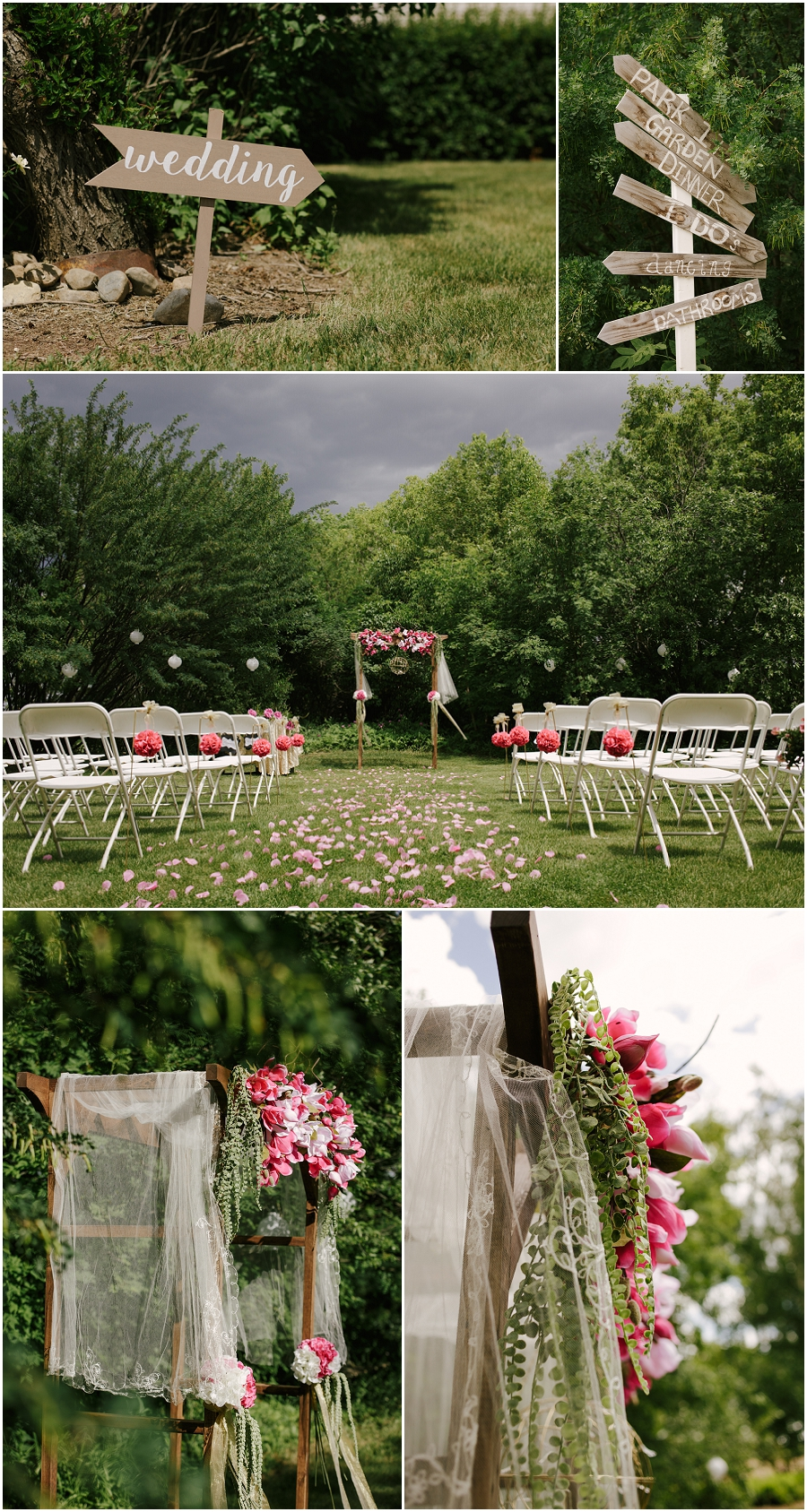 outdoor wedding ceremony at agars corner