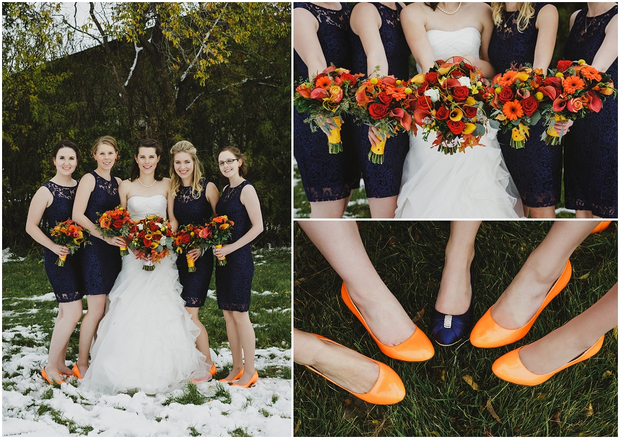 autumn wedding bridesmaids