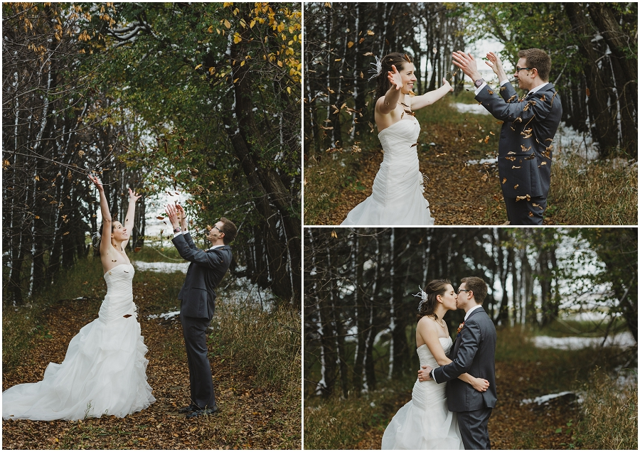 fall wedding in saskatchewan