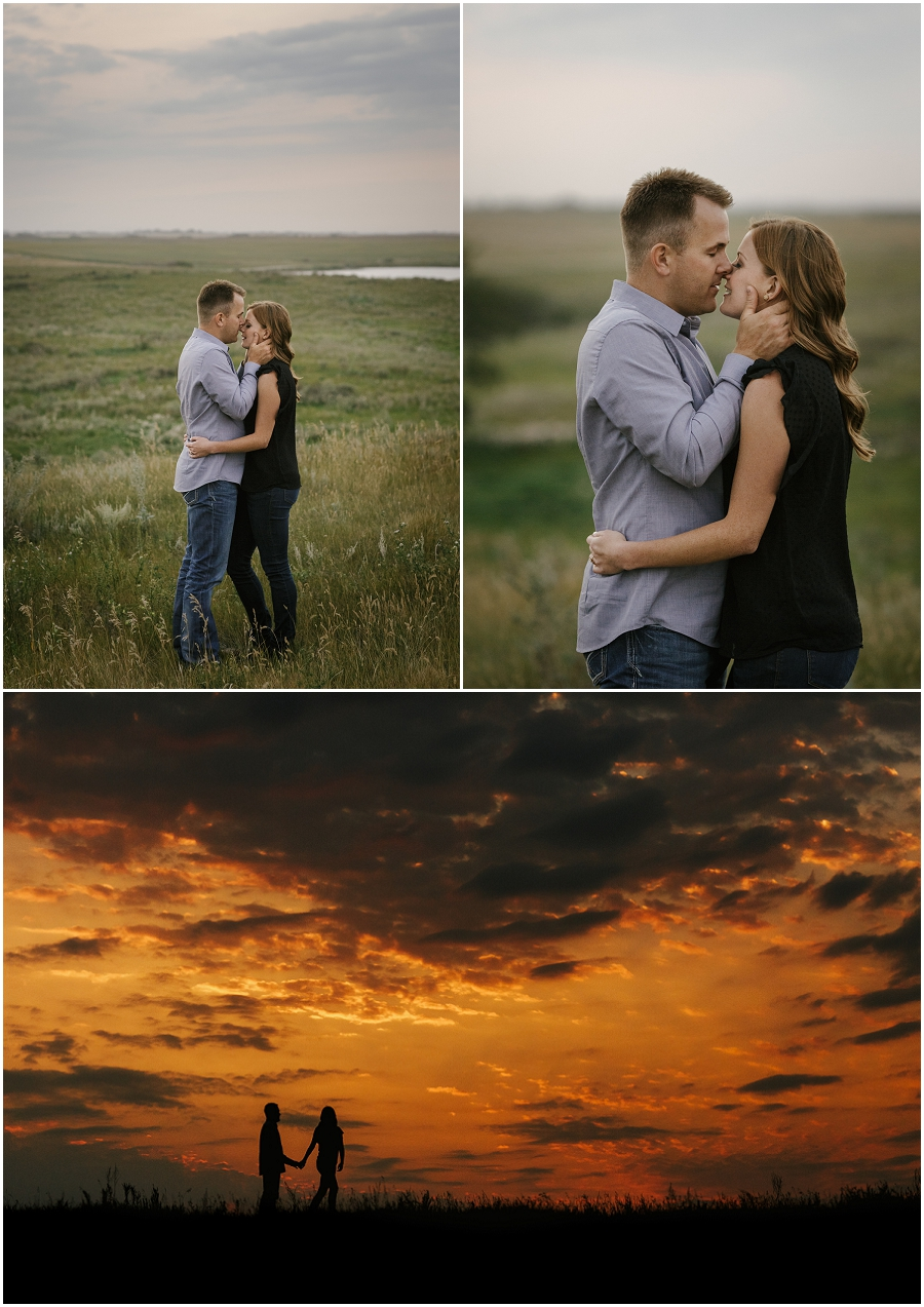 engagement photos at sunset