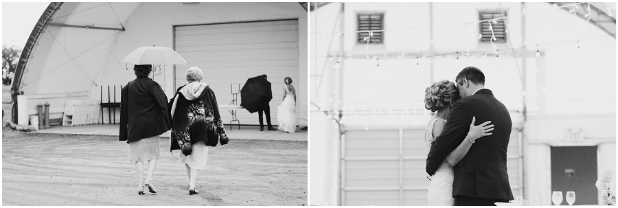 rainy saskatoon wedding