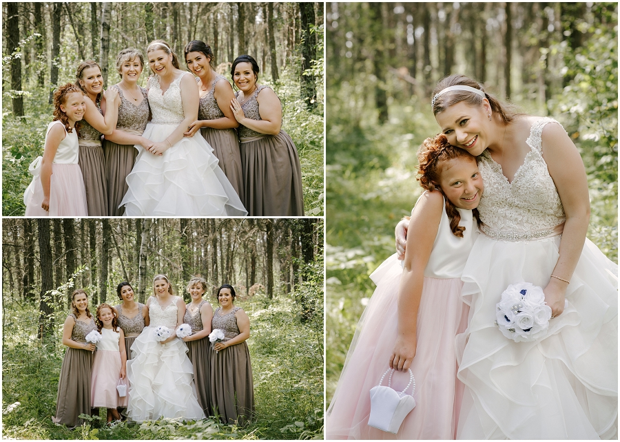 bridesmaids at par place wedding