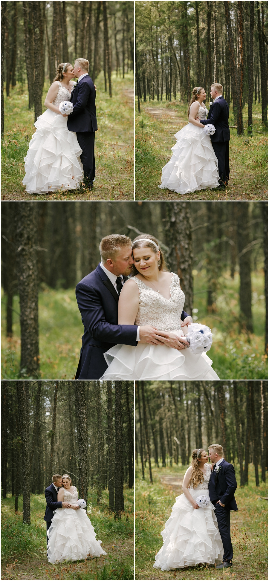 northern saskatchewan wedding in the forest