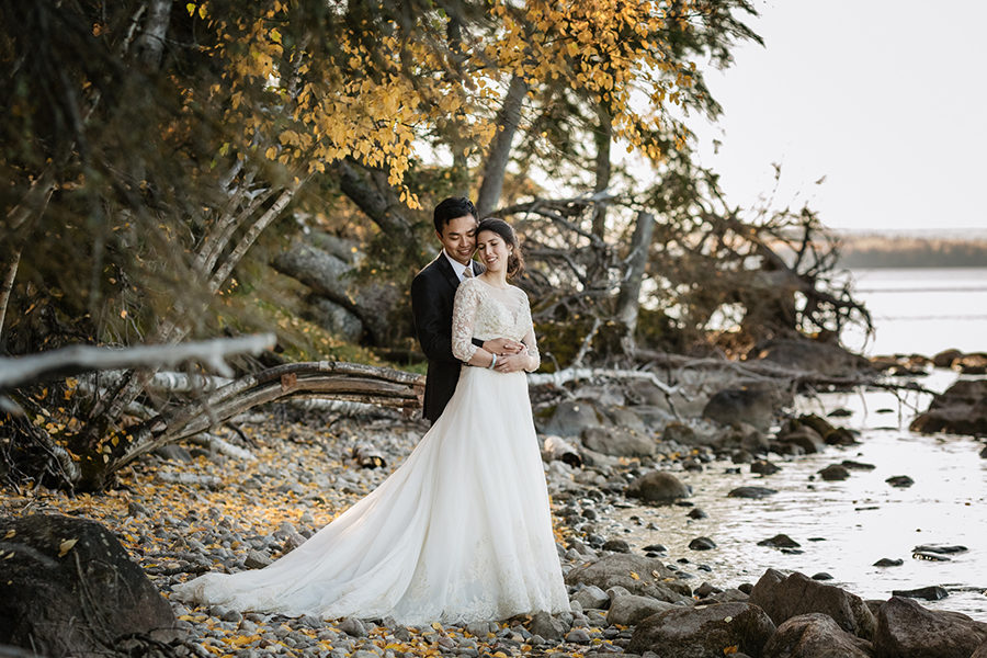 waskesiu beach wedding
