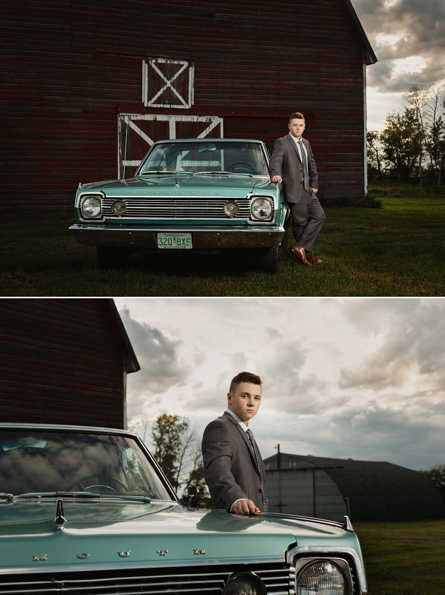 graduation photos with vintage car