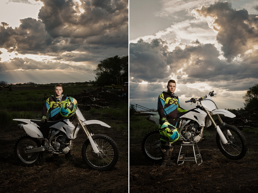 senior photos with dirt bike