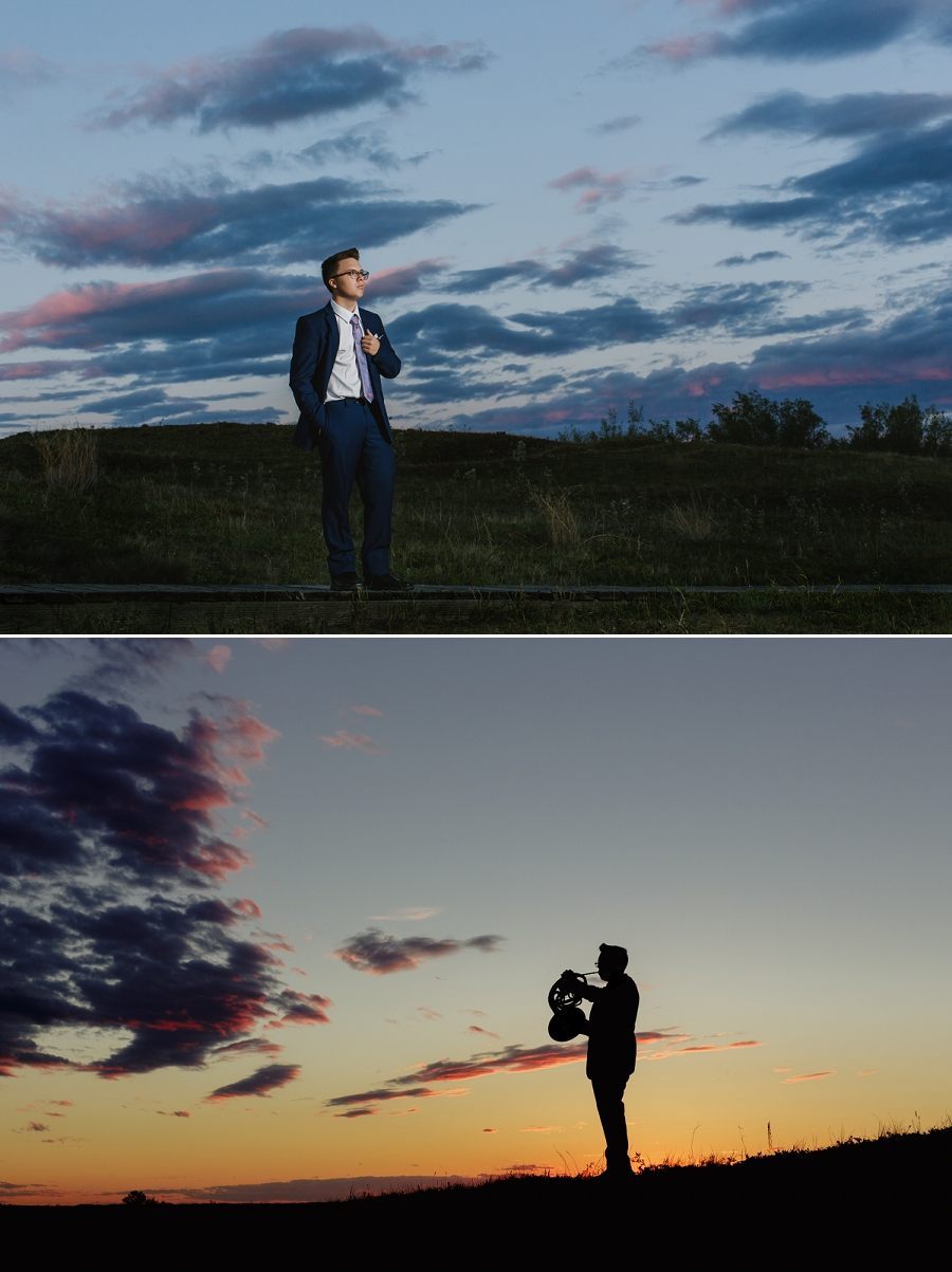 sunset graduation photography