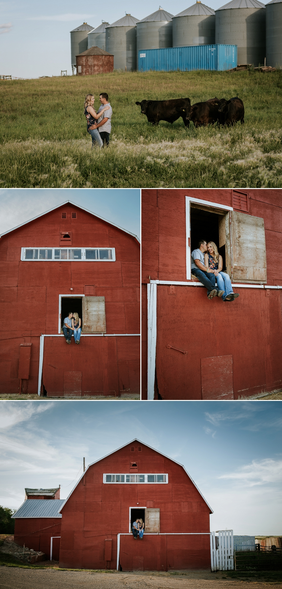 engagement pictures in barn