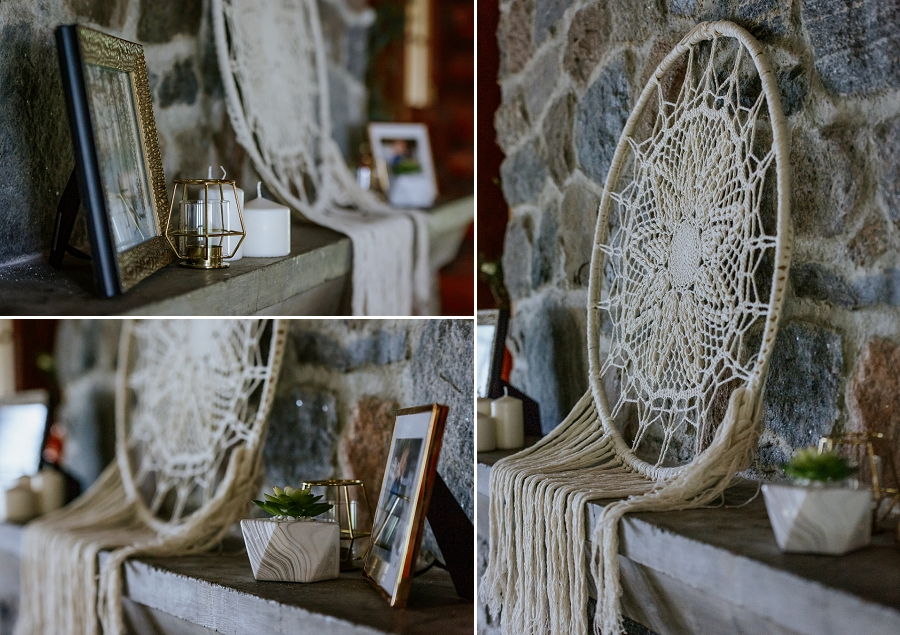 log cabin wedding decor