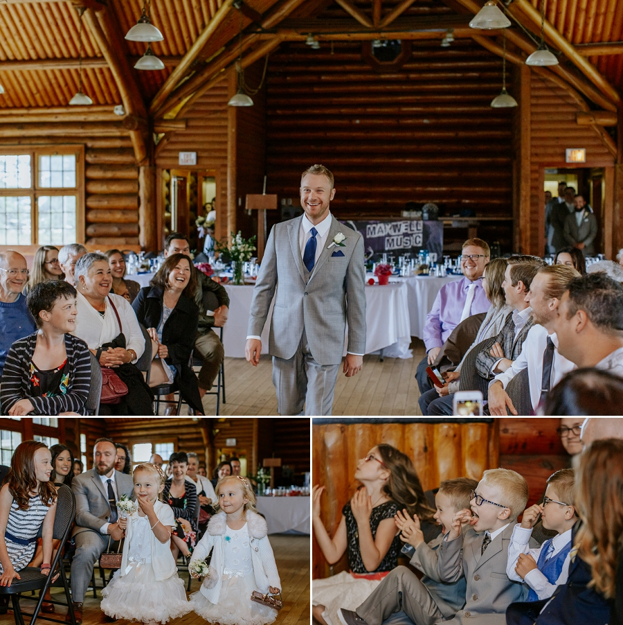 wedding in waskesiu community hall